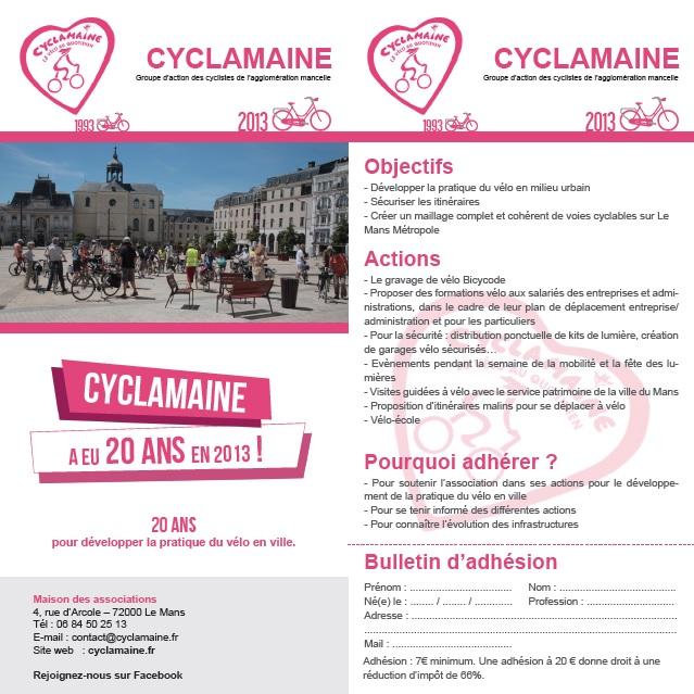 Cyclamaine fête ses 20 ans en 2013 !