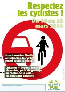 respectez les cyclistes
