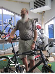 Premier vélo graver chez NS bike lors de la semaine de la Mobilité 2014.