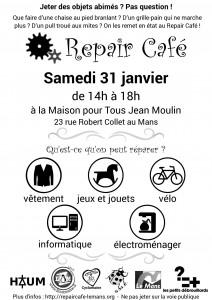 Repair Café - samedi 31 janvier - MPT Jean Moulin