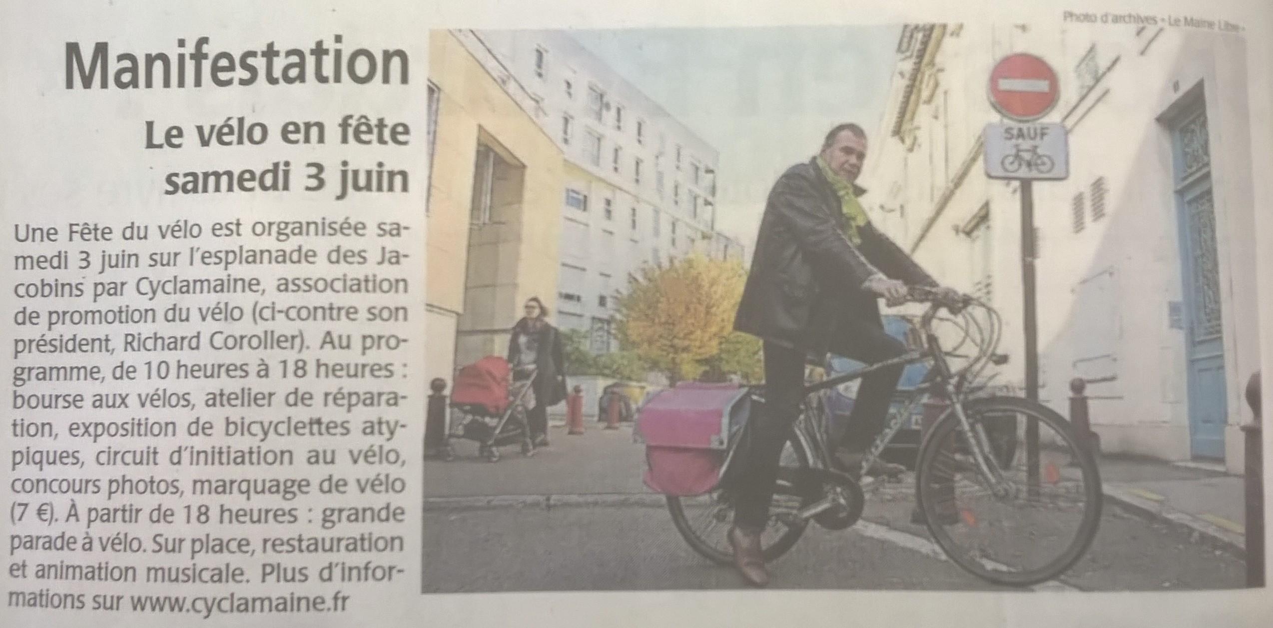 Fête du Vélo – Presse